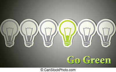 去, eco, 概念, green.