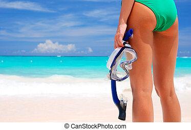 去, snorkeling