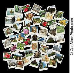 去, sri, lanka-, 背景, 由于, 旅行, 相片, ......的, 錫蘭, 界標