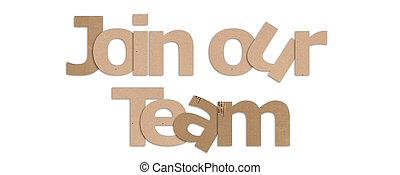 参加しなさい, テキスト, 背景, チーム, 私達の, 白