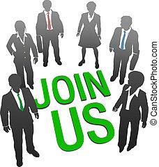 参加しなさい, ビジネス 人々, 時間, 会社, 私達