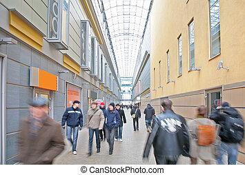 參觀者, 在, 購物中心