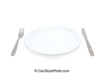 叉子, 盤子, 刀