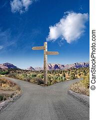 叉子, 道路