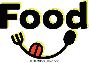 叉子, 食物, 设计, 勺子, 标识语
