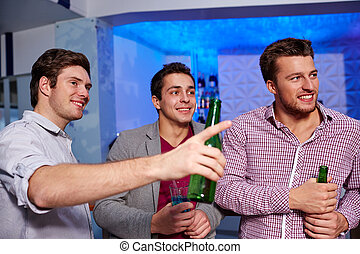 友人, ビール, マレ, グループ, ナイトクラブ