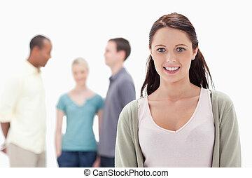 友人, 女性の 微笑, クローズアップ