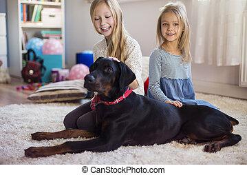 友人, 子供, 犬, 最も良く
