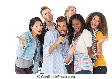 友人, 持つこと, カラオケ, グループ, 楽しみ, 幸せ