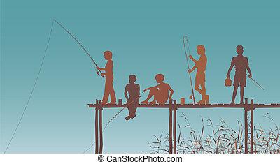 友人, 釣り