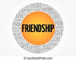 友誼, 詞, 雲, 拼貼藝術