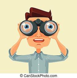双眼鏡, 人