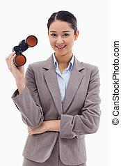 双眼鏡, 女性実業家, 保有物, 肖像画