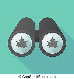 双眼鏡, 秋, 影, 木, 長い間, 葉