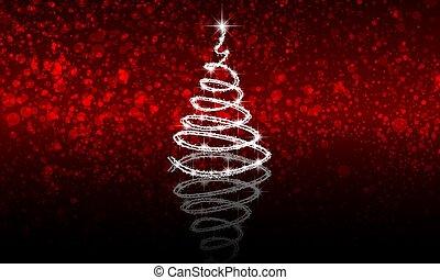 反射, 抽象的, 木, bokeh, 背景, クリスマス, 赤