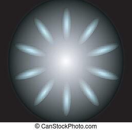 反射, 背景, 円