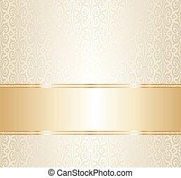 反復的である, 金, 壁紙, 結婚式