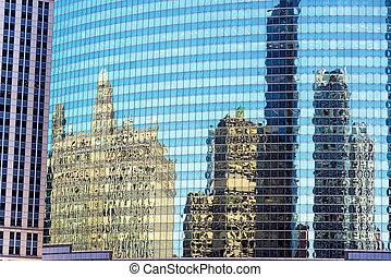 反映, 在中, 芝加哥