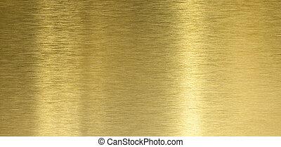 反映, 拉過絨, 光, 結構, 高, 黃銅, 質量