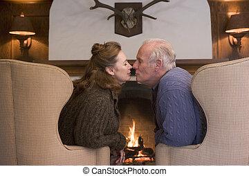 反響室, モデル, 偶力がキスする, 暖炉