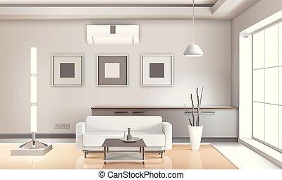 反響室, ライト, 現実的, 調子, 内部