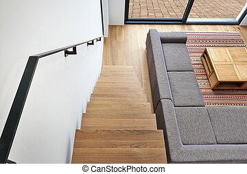 反響室, 堅材, 現代, タラップ, 階段