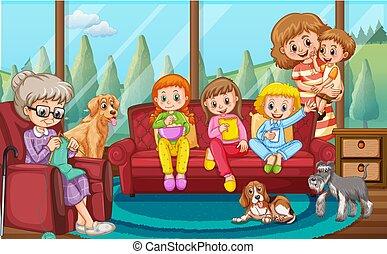 反響室, 家族, 幸せ