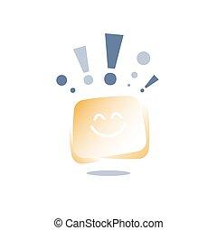 反馈, 好, 思想, 服务, 概念, 积极, 快车, 乐观主义, 感情, 态度, 客户, 经验, 质量, 开心