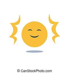 反馈, 好, 思想, 脸, 积极态度, 经验, 乐观主义, 微笑高兴, emoji