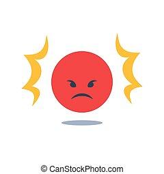 反馈, 或者, 思想, 服务, 愤怒, 负值, 不愉快, 脸, 经验, 坏, 客户, 质量, 客户, 红, 困难