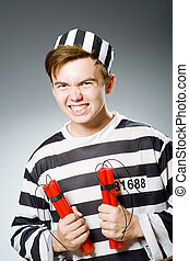収容者, 面白い, 概念, 刑務所