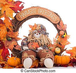 収穫, 花輪, 秋
