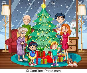 収集, クリスマス, 家族