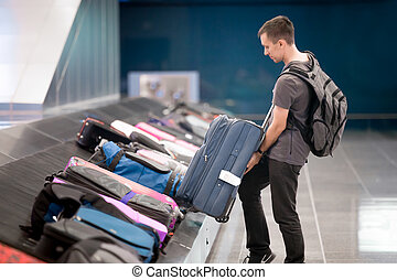 収集, 彼の, 若者, 手荷物