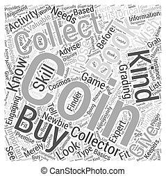 収集, 概念, 単語, 本, bwcc, コイン, 雲