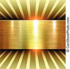 发亮, 金子, 背景