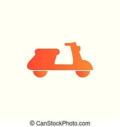 发送, 小摩托车, 矢量, 图标