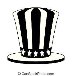 叔父, 白, 黒, sam, 帽子