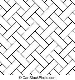 取り上げられた, 幾何学的, pattern., seamless, 編みこみ