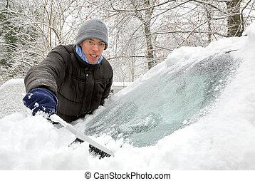 取り去る, 雪, 自動車
