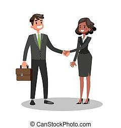 取引, ビジネス 人々, 2, ∥(彼・それ)ら∥, 動揺, hands.