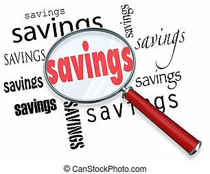 取引, 探索, ガラス, 節約, 言葉, 拡大する, 最も良く