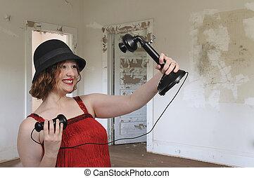 取得, 女, selfie