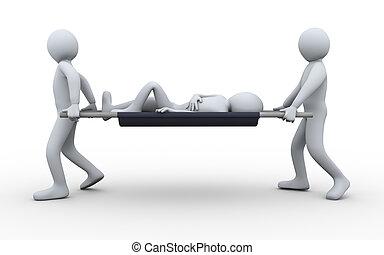 取得, 3D, 患者, 人々