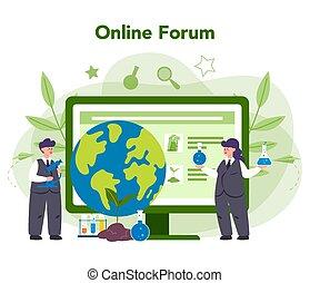 取得, platform., サービス, 心配, 生態学者, 科学者, オンラインで, ∥あるいは∥