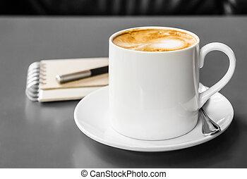 受皿, コーヒーカップ, テーブル