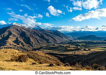 叙事詩, 山の谷, 景色。, 空中写真