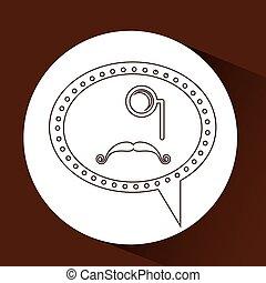 口ひげ, monocle, 情報通, シンボル, 長い間
