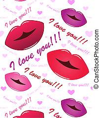 口紅の 接吻