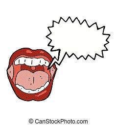 口, スピーチ, 漫画, 泡